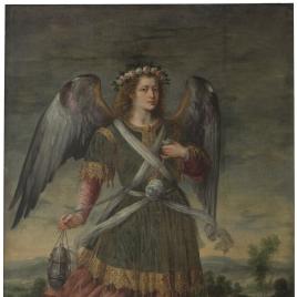 El Arcángel Seatiel con incensario