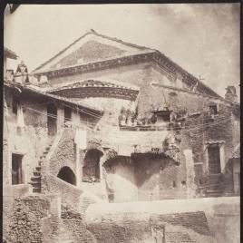 Vista del ábside de la Iglesia de San Salvador en Roma