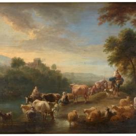 Paisaje con ganado