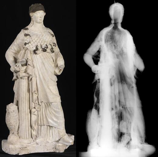 <p><em>Fig.5</em>: Minerva, x-rays detail</p>