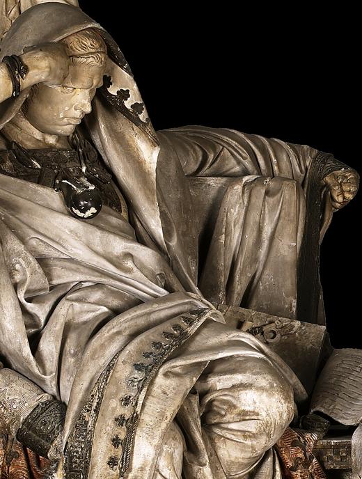 <p><em>Fig.8</em>: detail of the figure of Nero before restauration</p>