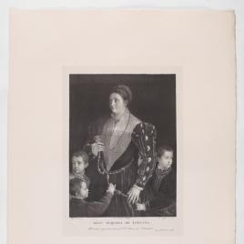 Camilla Gonzaga, condesa de San Segundo, y sus hijos
