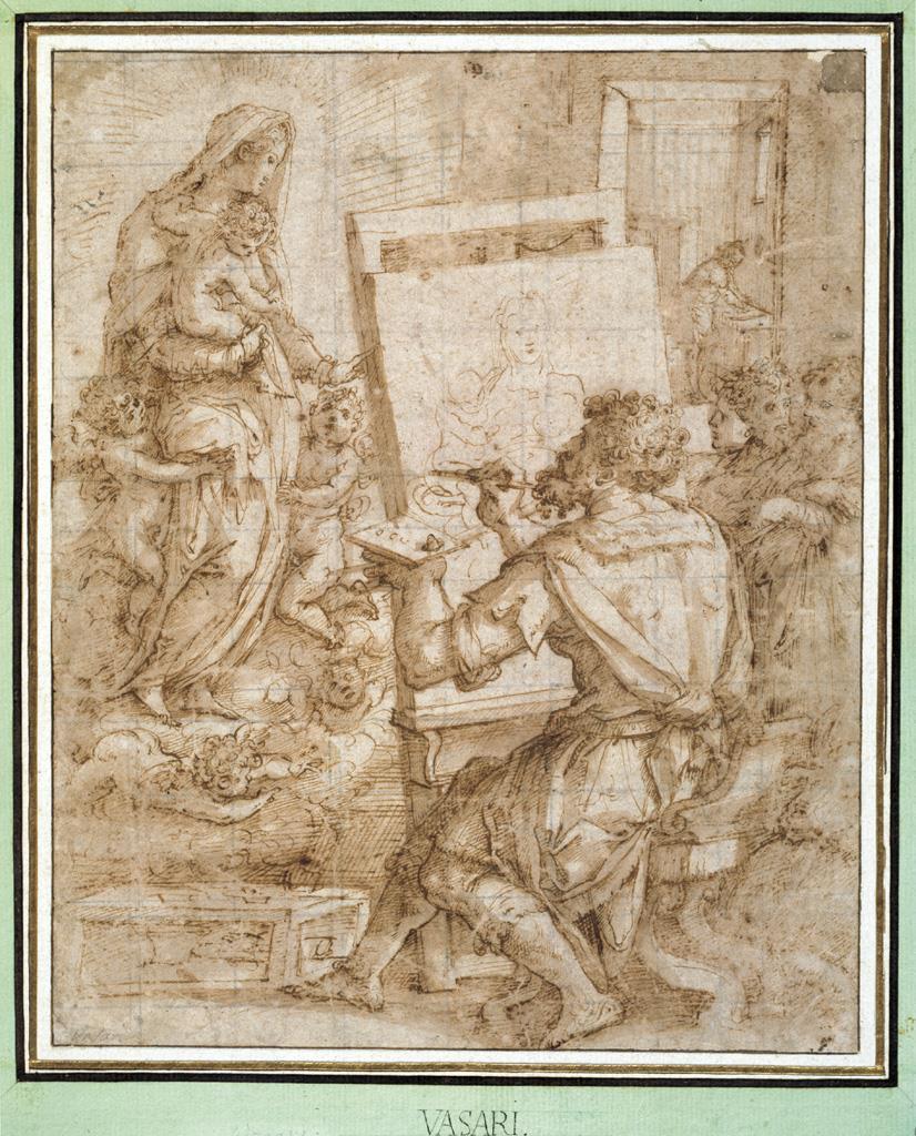 San Lucas pintando a la Virgen [Giorgio Vasari]