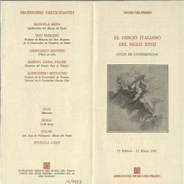 El dibujo italiano del siglo XVIII : ciclo de conferencias / Amigos del Museo del Prado.
