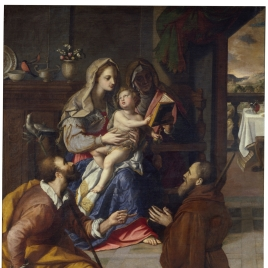 Sagrada Familia y el cardenal Fernando de Medici