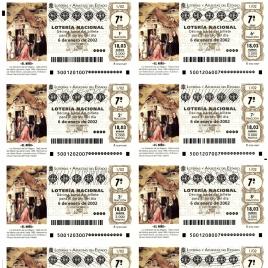 Capilla de billete de Lotería Nacional para el sorteo de 6 de enero de 2002