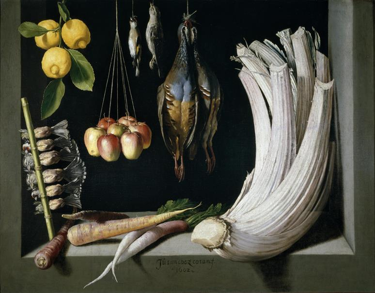 Bodegón de caza, hortalizas y frutas (reproducción fotográfica)