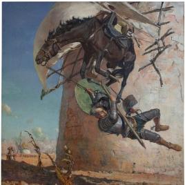 Don Quijote y los molinos de viento