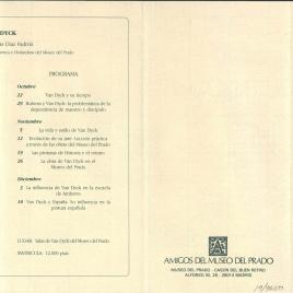 Amigos del Museo del Prado : octubre - diciembre 1990 : [Bartolomé Esteban Murillo (1617-1682), Ribera y Zurbarán : dos experiencias estéticas distintas, Van Dyck] / Amigos del Museo del Prado