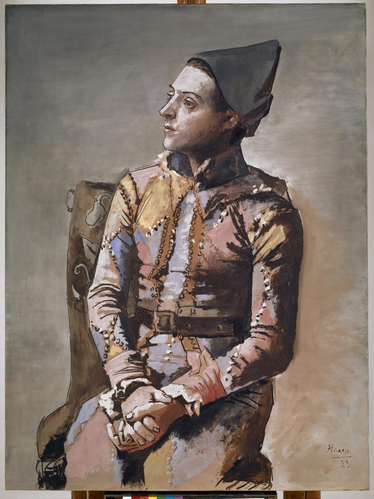 Arlequín sentado o El pintor Jacinto Salvadó