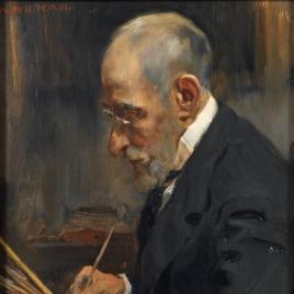 El pintor Salvador Martínez Cubells, padre del autor