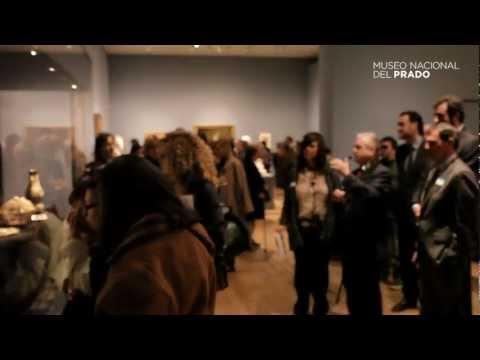 Visita de Mikhail Piotrovsky a la exposición El Hermitage en el Prado
