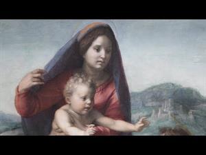 """""""La Virgen con el Niño entre san Mateo y un ángel"""" de Andrea del Sarto"""