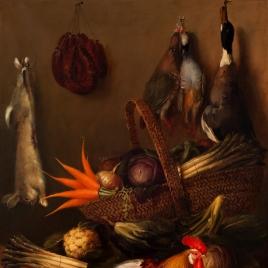 Bodegón de caza y hortalizas