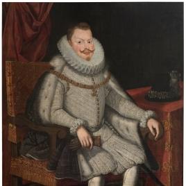 Felipe III, rey de España, sedente