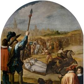 El martirio de tres cartujos en la cartuja de Londres