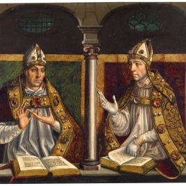 San Ambrosio y san Agustín