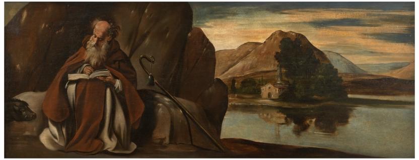 San Antonio Abad en un paisaje
