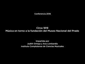 Circa 1819. Música en torno a la fundación del Museo Nacional del Prado