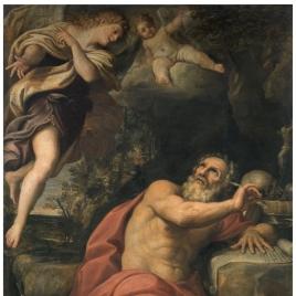Aparición de los ángeles a San Jerónimo