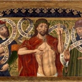 Cristo de Piedad entre los profetas David y Jeremías