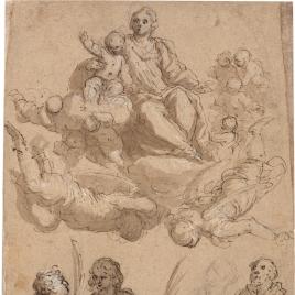 La Aparición de la Virgen y el Niño a cuatro santos
