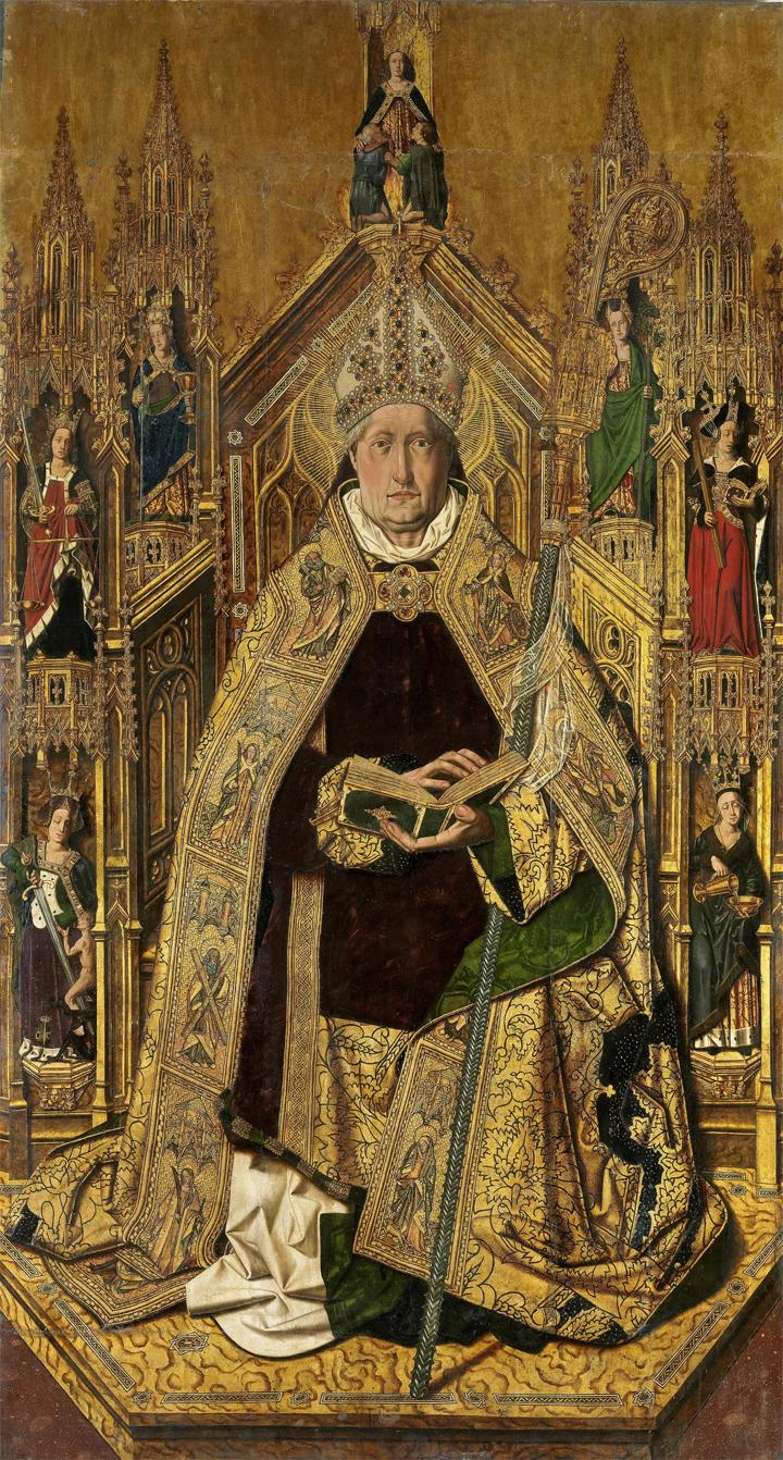 The altarpiece of Saint Dominic of Silos by Bartolomé Bermejo
