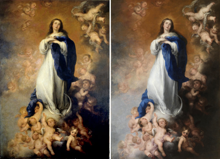 The Restoration of The Soult Immaculate Conception by Bartolomé Esteban Murillo