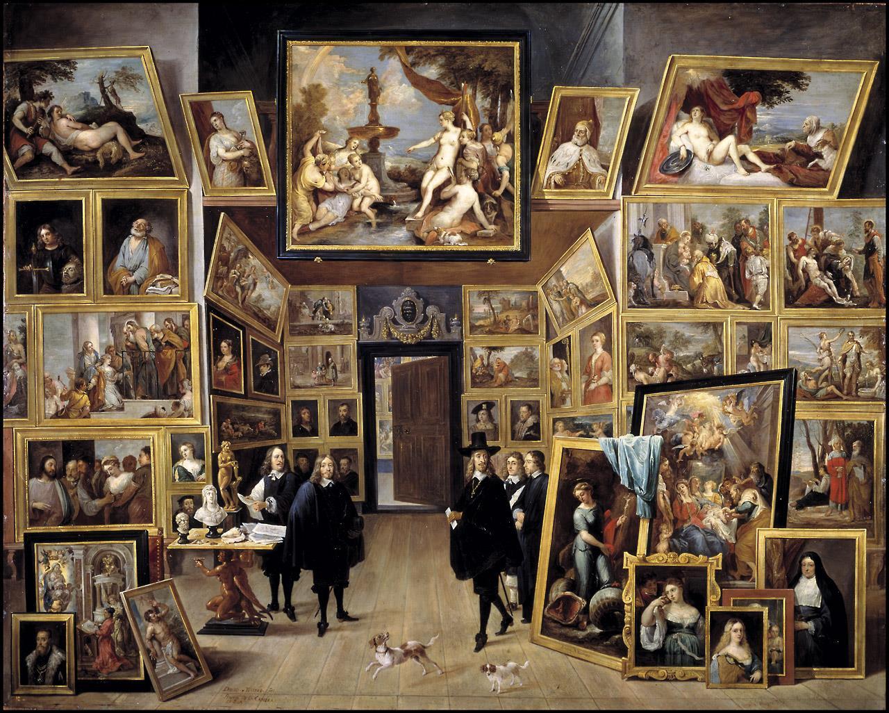 Archiduque Leopoldo Guillermo en su galería de pinturas en Bruselas, El [David Teniers ii]