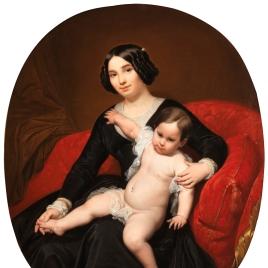 Retrato de dama con su hijo o Dama con un niño en brazos