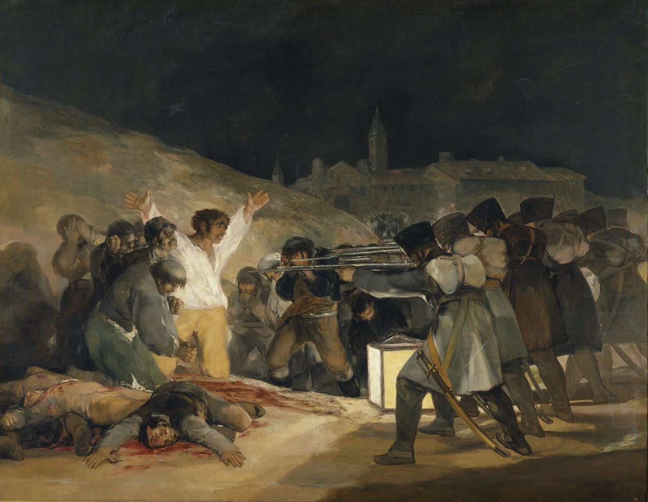 3 de mayo de 1808 en Madrid: los fusilamientos de patriotas madrileños, El [Goya]