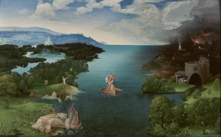 El paso de la Laguna Estigia, de Joaquim Patinir