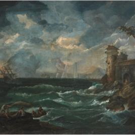 Marina con las columnas de Hércules