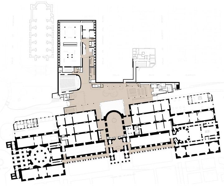 Plano de la ampliación de Rafael Moneo