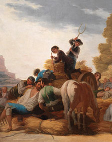 The Threshing Ground or Summer by Goya